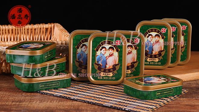 藩高寿のど飴(ストロング) レトロチャイナ缶