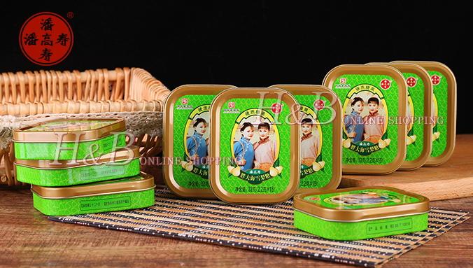 藩高寿のど飴(雪梨) レトロチャイナ缶