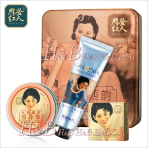 【H&B】摩登紅人 Modern Lady 雪花膏・練り香水・ハンドクリーム3点セット(レトロ缶)
